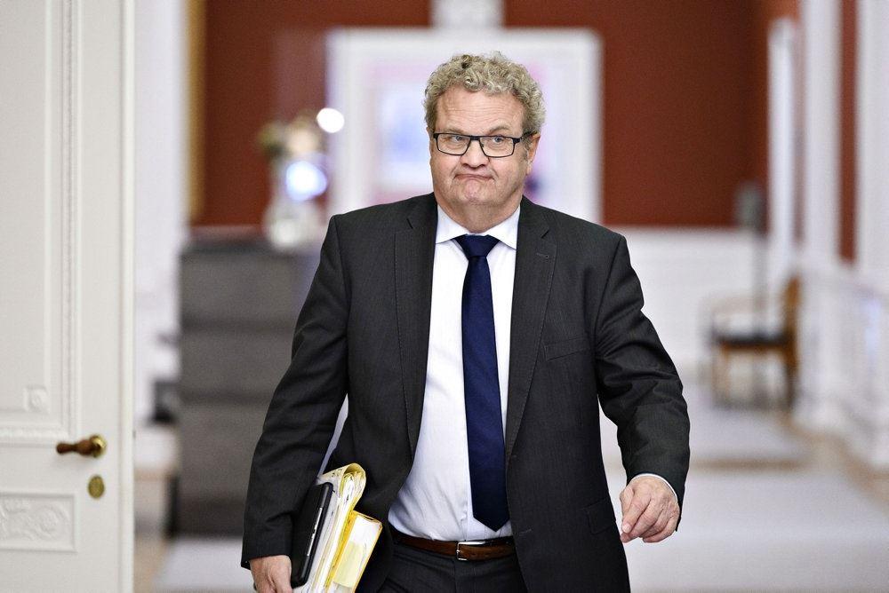 En korpulent mand på Christiansborg